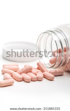 pills and tablet, the medical means, macro. - stock photo
