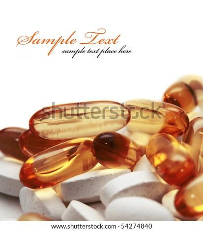 pills background - stock photo