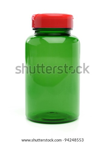 Pills bottle - stock photo