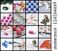 Pills collage - stock photo
