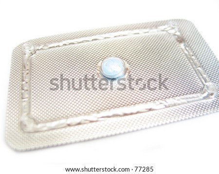 pills, drugs, birth control pill - stock photo