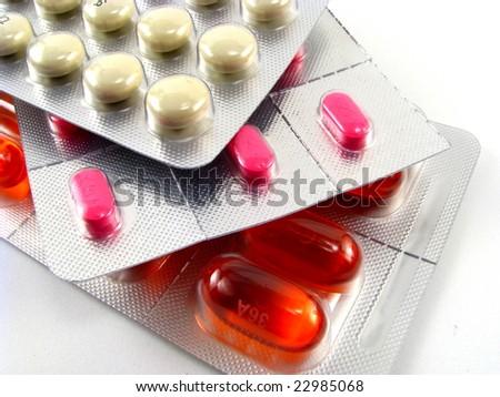 Pills in Blister Packs - stock photo