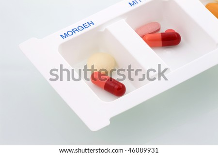 Pills in day box