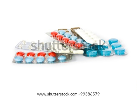pills isolated on a white background