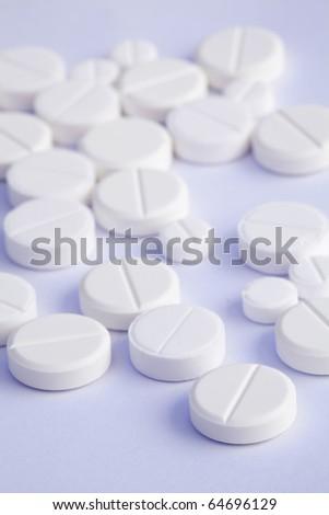 pills on a white background - stock photo