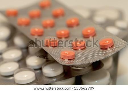 pills packed - stock photo
