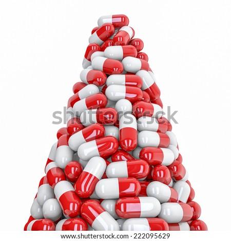 Pills peak - stock photo
