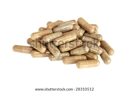 Pills scattered - stock photo