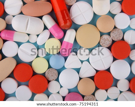 Pills,  tablets and capsules - stock photo