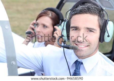 Pilot - stock photo