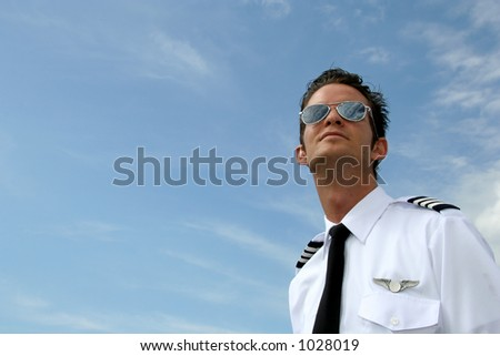 Pilot looking to the skies - horizontal