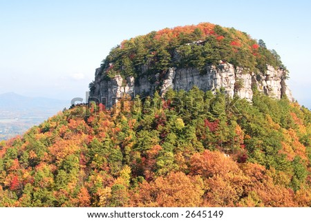Pilot Mountain in Fall, North Carolina