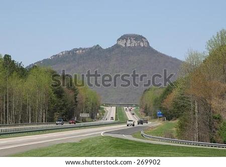 Pilot Mountain North carolina - stock photo