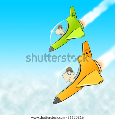 Pilots - stock photo