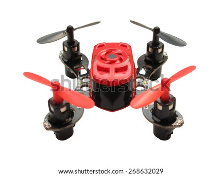 PILSEN, CZECH REPUBLIC - MARCH 28, 2015: Micro Quadcopter Faze by Horizon Hobby. Shallow DOF. - stock photo