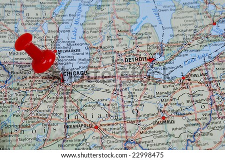 Chicago Map Stock Images RoyaltyFree Images Vectors Shutterstock - Usa map chicago