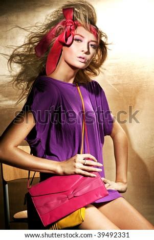 Pin up woman - stock photo
