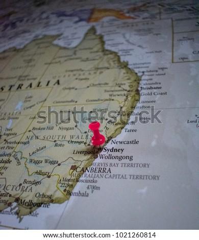 Pin world map australia stock photo 1021260814 shutterstock pin world map australia gumiabroncs Images
