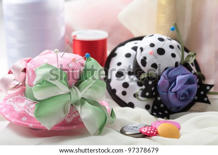 pincushion - stock photo