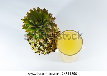 pine apple and juice