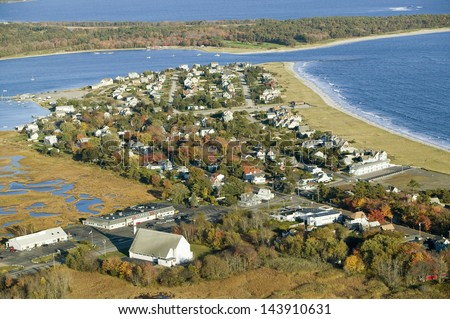 Pine Point Beach located in Scarborough, Maine, outside of Portland - stock photo