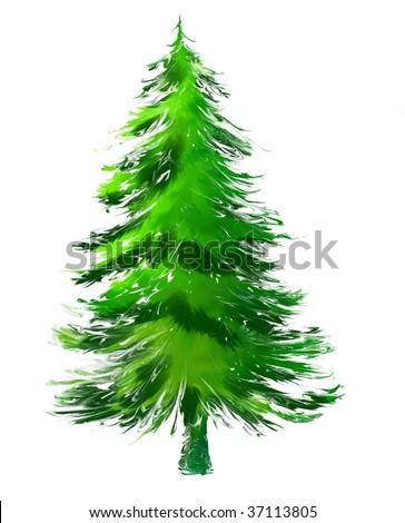 Pine Tree or Christmas Tree Abstract - stock photo