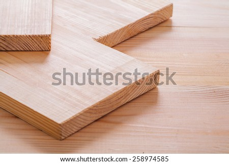 pine tree wooden boards close up horizontal version construction concept  - stock photo