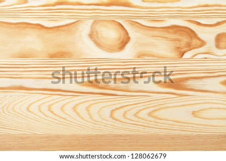 Pine wooden table background. Macro texture. Top view - stock photo