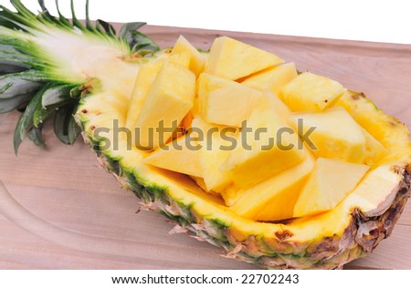 pineapple boat - stock photo