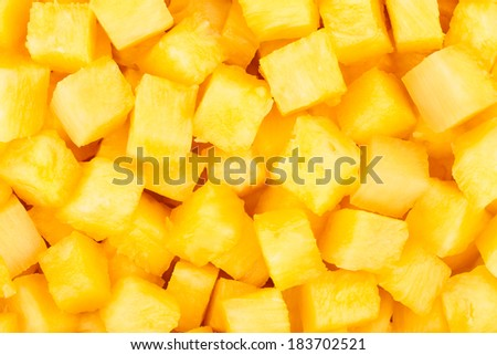 pineapple chopped background - stock photo