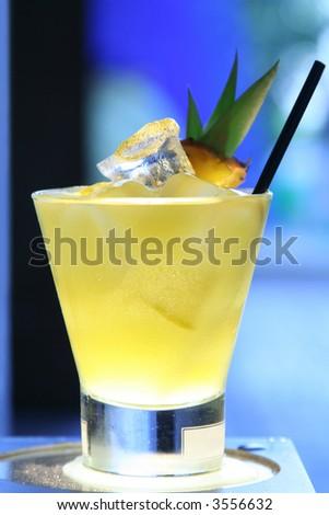 pineapple cocktail - stock photo