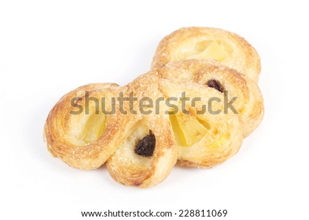 Pineapple Danish Pastry Isolated on white background