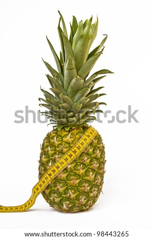 Pineapple Diet - a fruit day, a must for figure conscious - stock photo