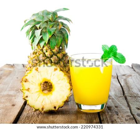 pineapple fresh juice drink - stock photo