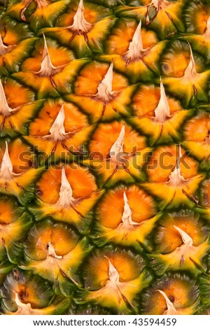 Pineapple fruit close-up. - stock photo