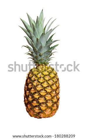 pineapple fruit isolated - stock photo