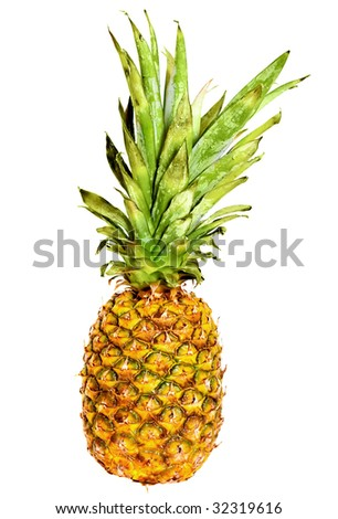 Pineapple fruit isolated over a white background