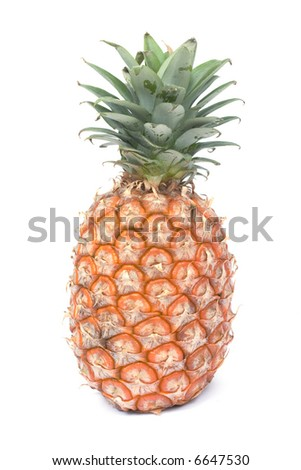 Pineapple. Image series of fresh vegetables and fruits on white background