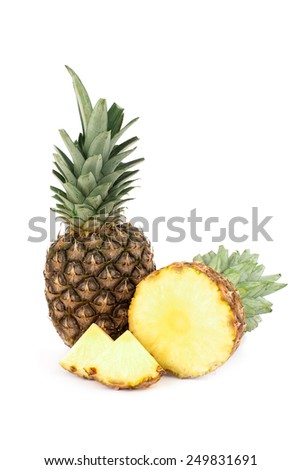 Pineapple isolated - stock photo