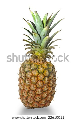 Pineapple isolated in white