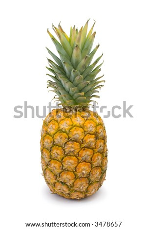 Pineapple, isolated on white background
