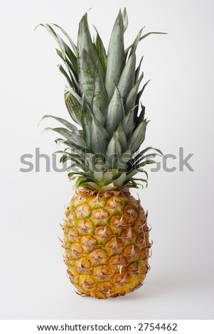 Pineapple on a light grey background