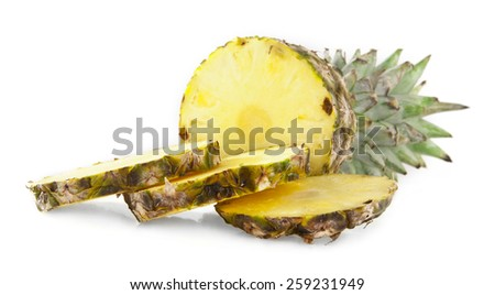 pineapple on a white background - stock photo