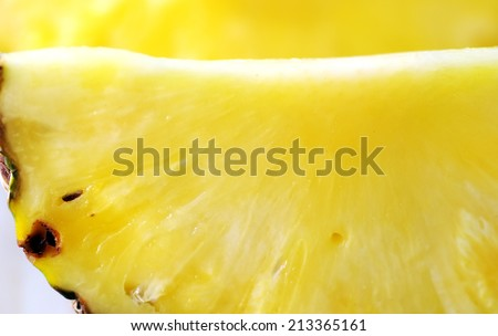 Pineapple slice background - stock photo