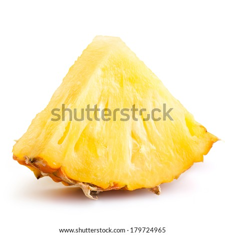 Pineapple slices isolated on white background  - stock photo