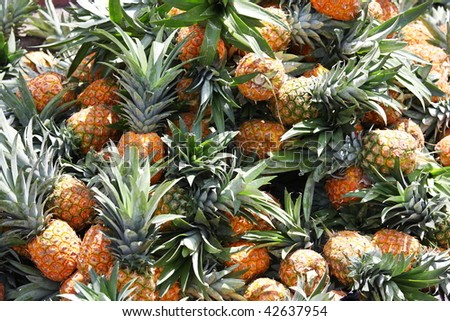 Pineapples at fruit market