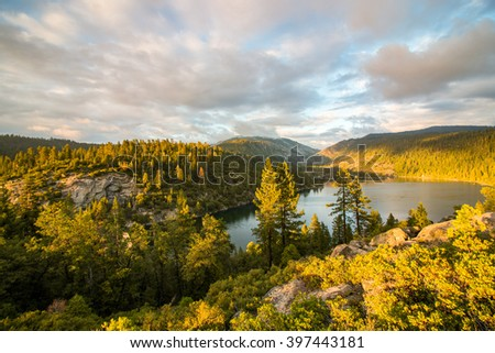 Pinecrest Lake - stock photo