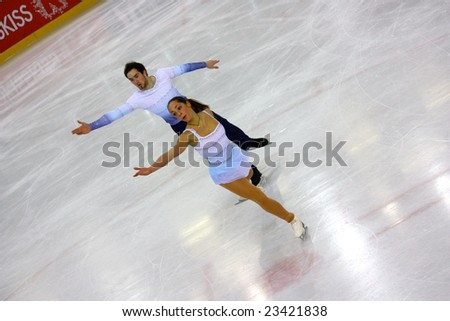 PINEROLO, ITALY - DECEMBER 20: Italian overall 2009 Figure Skating Championships, from the 18th to the 21st of December 2008 in Pinerolo, Italy.