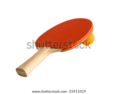 Ping-pong racket with ball