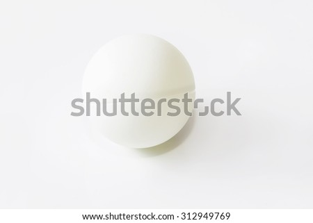 Ping-pongs ball isolated on white - stock photo